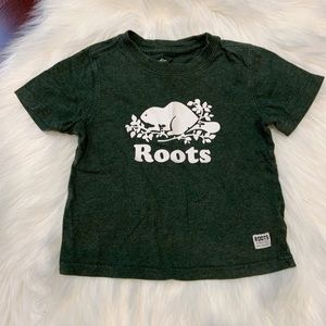 ROOTS Boys Green T-shirt | Size 4T